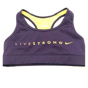 Nike Live strong sports bra xs